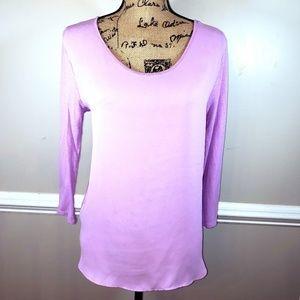 EUC LOFT womens blouse lilac purple size M